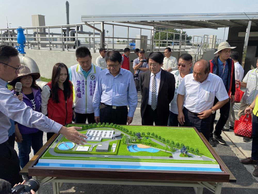 甘棠水質淨化場完工啟用 興化廍排水水清魚游
